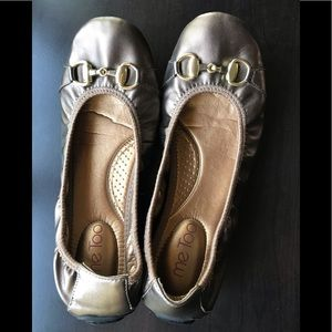 Me Too flats - size 6.5. Bronze color.